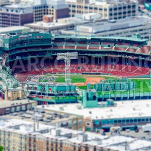 Aerial view of the Fenway Park Stadium, Boston, USA