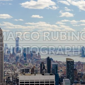 Aerial view of the New York City skyline, USA