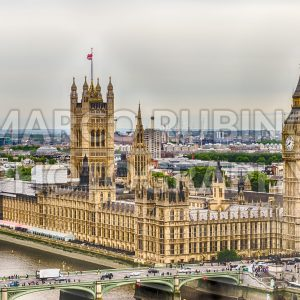 Aerial view of the Palace of Westminster, London, UK