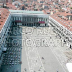 Aerial view over St Mark's Square, Venice, Italy