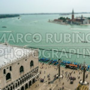 Aerial view over Venice Lagoon, Italy