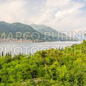 Aerial view over the Town of Salo, Lake Garda, Italy