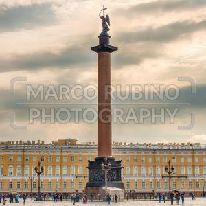 Alexander Column  in Palace Square, St. Petersburg, Russia