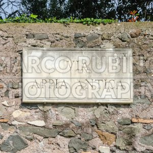 Ancient Appian Way sign in Rome, Italy