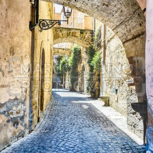 Ancient alley in Orvieto, Italy