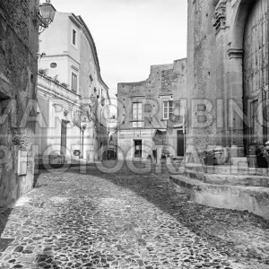 Ancient street in old town of a southern Italy village