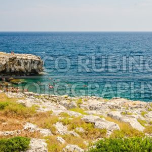 Beautiful seascape at Marina di Andrano, Salento, Apulia, Italy
