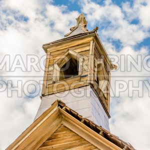 Bell tower in the ghost town of Bodie, California, USA