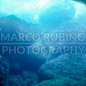 Blue grotto underwater background, Italy
