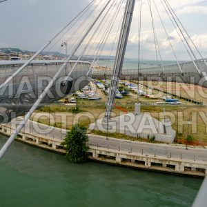 Bridge of the Sea, iconic landmark in Pescara, Italy