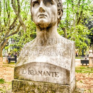 Bust statue of Bramante, Villa Borghese, Rome, Italy