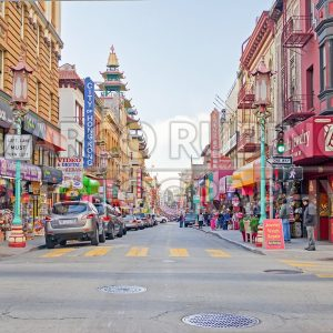 Chinatown district in San Francisco, USA