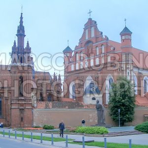 Church of St. Anne, old town of Vilnius, Lithuania