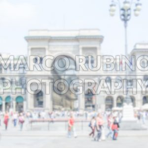 Defocused Background of Piazza Duomo in Milan. Intentionally blurred post production