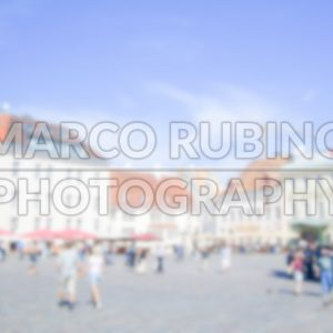 Defocused Background of Raekoja Plats in Tallin. Intentionally blurred post production