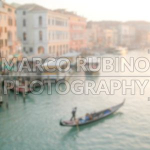 Defocused Background of The Grand Canal in Venice. Intentionally blurred post production