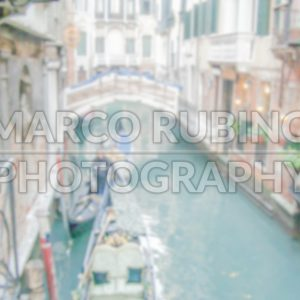 Defocused Background with Canal in Venice. Intentionally blurred post production