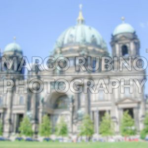 Defocused Background with Facade of Berlin Cathedral. Intentionally blurred post production