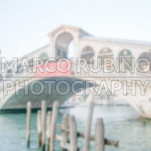 Defocused Background with Rialto Bridge in Venice. Intentionally blurred post production