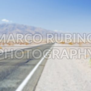 Defocused background of  Desert Road in Death Valley, California