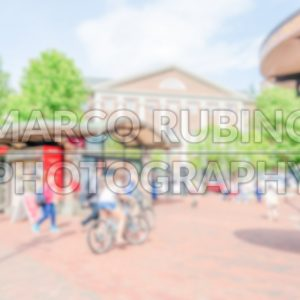 Defocused background of Harvard Square, Cambridge, USA