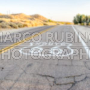 Defocused background of Historic Route 66 in California