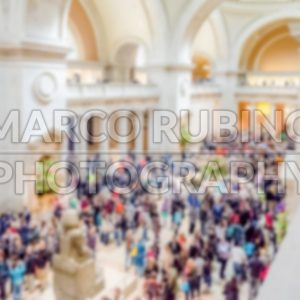 Defocused background of Metropolitan Museum of Art Main Hall, NYC