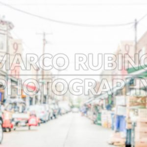Defocused background of Philadelphia's 9th street Italian Market