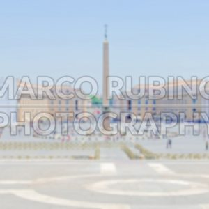 Defocused background of St Peter's Square, Vatican City, Rome