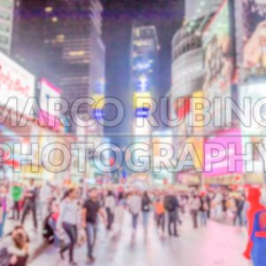 Defocused background of Times Square in New York City