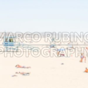 Defocused background of Venice Beach in California, USA
