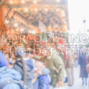 Defocused background of a Christmas Market in Munich. Intentionally blurred post production