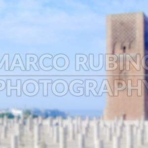 Defocused background of a Mosque in Morocco