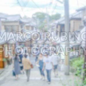 Defocused background of a traditional japanese street