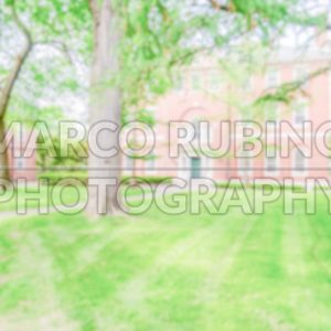 Defocused background of a typical university campus