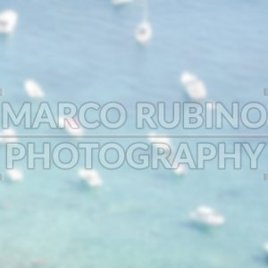 Defocused background of boats on the sea