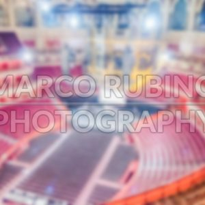 Defocused background of the Royal Albert Hall, London, UK