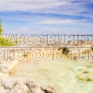 Defocused background of tropical beach in French Polynesia