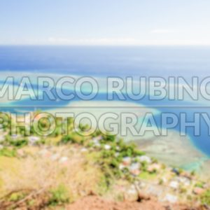 Defocused background of tropical lagoon in French Polynesia