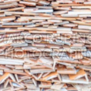 Defocused background with stack of wood