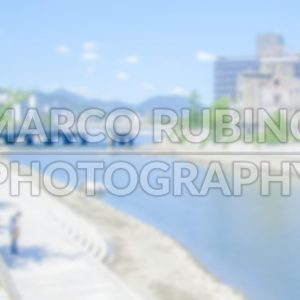 Defocused generic background of Hiroshima, Japan