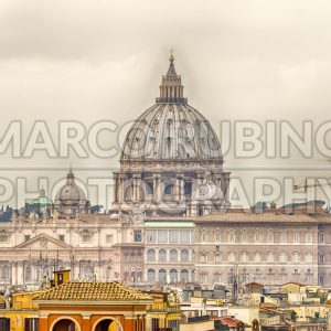 Dome of St Peter's Cathedral in Rome, Italy