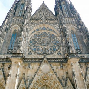 Facade of St Vitus Cathedral, Prague, Czech Republic