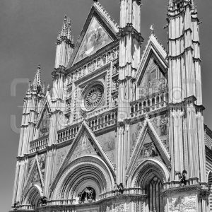 Facade of the Orvieto Cathedral, Italy