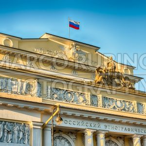 Facade of the Russian Museum of Ethnography, St. Petersburg, Russia