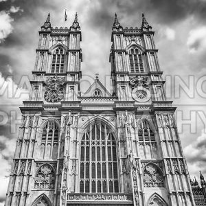 Facade of the Westminster Abbey, London, UK