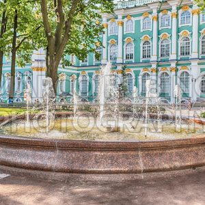 Fountain in the courtyard of Winter Palace, St. Petersburg, Russia