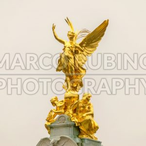 Golden Statue at Buckingham Palace, London, UK