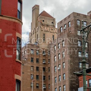 Harlem YMCA, iconic landmark in New York City, USA