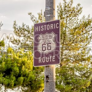 Historic Route 66 Sign in California, USA